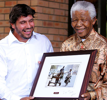 Riaan and Mr. Mandela